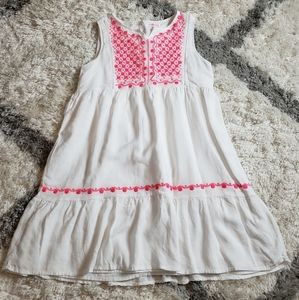 Design history pink and white dress